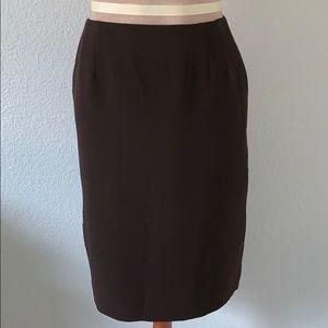 Emanuel Ungaro Chocolate Pencil Skirt